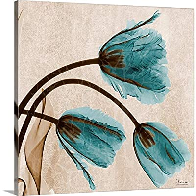 Blue Tulip X-Ray Photograph Canvas Wall Art Print from CANVAS ON DEMAND