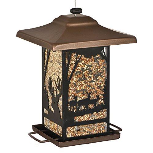 Perky-Pet Vogelfutterspender Wald-Laterne für Wildvögel - Füllmenge 0,9 kg Vogelfutter - Mod. 8504-2