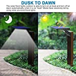 Solar Lights Outdoor Motion Sensor, JESLED 90 LED Solar Powered Exterior Security Light, 6000K, 3 Modes Waterproof Flood Lights for Yard Patio Garage, Dusk to Dawn, USB Charging & Battery Replaceable Dusk To Dawn