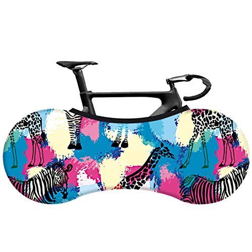 AGQH Interior Universal Cubierta de Bicicleta, Patrón de Estampado de Leopardo, Funda Protectora Bicicleta Carretera MTB Bolsa de Almacenamiento Mantiene limpios los Pisos y Las Paredes de su hogar