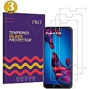 Qechen Huawei P20 Schutzglas Schutzfolie, [3 Stück] [9H Härte] [Ultra transparent] [Anti-Fingerabdruck] [Keine Blase Installation] Displayschutzfolie Panzerglasfolie für Huawei P20