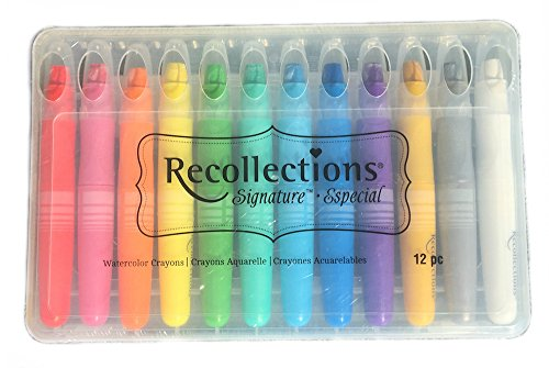 Recollections Signature Shimmery Watercolor Crayons - 12 Piece Set