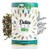 BIO DETOX TEE 125g - Loser Tee auf Basis von grünem Tee und Mate aus kontrolliert biologischem Anbau - Entgiftungskur 30 Tage