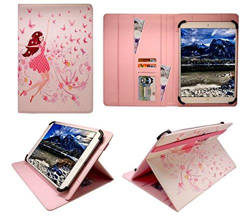 Sweet Tech Trekstor SurfTab Xiron 10.1 Zoll Tablet Glückliches Mädchen Universal Wallet Schutzhülle Folio (10-11 Zoll)