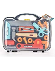 DOODEE Kids toy 14&15 pieces craftsman Kid DIY hand Toolkit for early education Safe and Durable plastic Hand Tools toy from age 3+ Early learning tool Pretend to play (Saw/Hammer set)