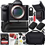 Sony a7R III Full Frame Mirrorless Interchangeable Lens Camera 42.4MP Body ILCE7RM3/B Bundle with Vertical Battery Grip, 128GB Memory Card, Paintshop Pro Software and Accessories (12 Items)