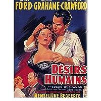 Rzhss 人間の欲望1954ヴィンテージレトロフリッツラングドイツ映画映画装飾ポスター壁キャンバスステッカー家の装飾キャンバスに印刷-60X90Cmフレームなし