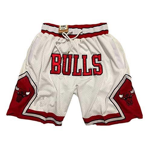 ZXZXING Bulls Basketball Shorts Herren Slim-Fit Chino-Shorts mit Flacher Vorderseite und Stretch-Chino-Shorts