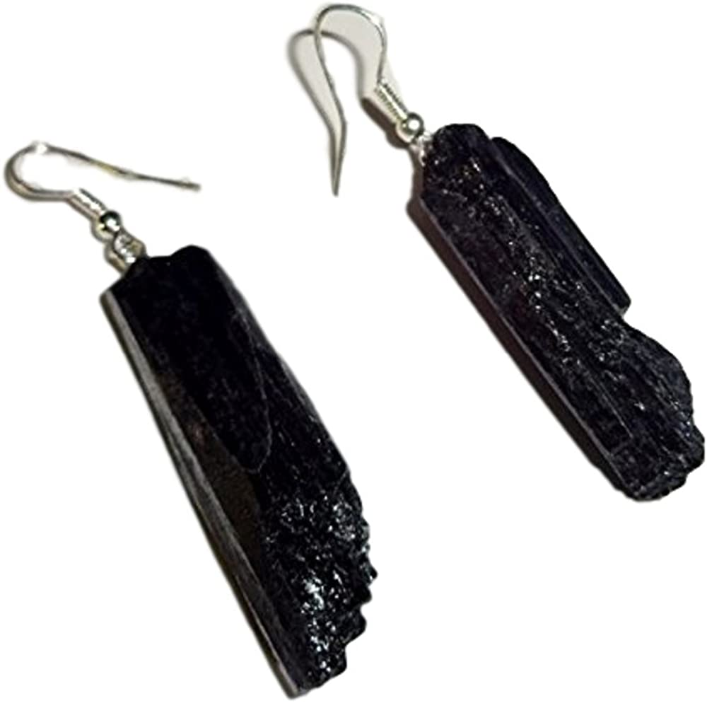 Sublime Gifts service 1 Pair Raw Black Form Crys Tourmaline Natural Max 41% OFF Free
