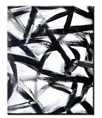 Baodanla Geen lijst zwart-wit lijn moderne fotowoonkamer kunstenabstracte muurkunst olieverfschilderij abstract popkunstenaar-vloerdecoratie