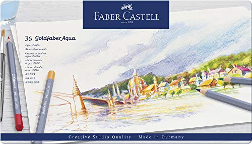 Faber-Castell Creative Studio Goldfaber Watercolor Pencils (36 Count)