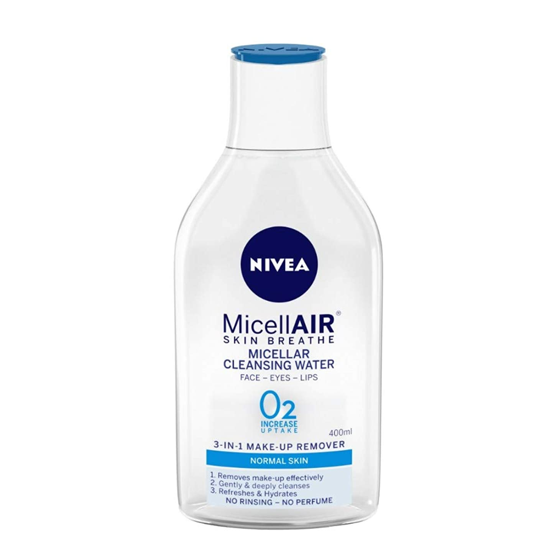 バーターベアリングサークル強化するNIVEA Micellar Cleansing Water, MicellAIR Skin Breathe Make Up Remover, 400ml