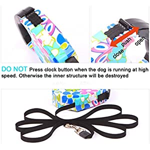 Blovess Yueton 16.5 ft Pet Dog Cat Puppy Retractable Leash Traction Rope Walking Lead Leash (Pink)