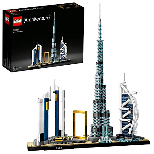 LEGO 21052 Architecture Skyline Collection Dubái, Set de Construcción, Modelo de Coleccionista, Maqueta Decorativa