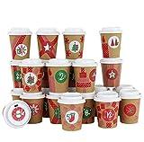 Tasse à café DIY pour Calendrier de l'Avent - Àcréer et remplir soi-même - Vert Rouge Classique...
