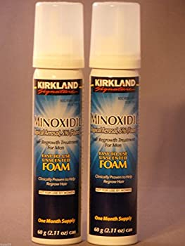 It s a 10 Kirkland Hair Loss Foam Mens 5% Minoxidil 2 Month Generic Locked and New 2 Cans Hair Care