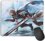 Final Fantasy 13 Lightning Gaming Mouse Pad,Non-Slip Water-Resistant Rubber Base Horizontal Computer Mouse Mat for Gamer Office and Home 10 x 12Inch(25x30cm)