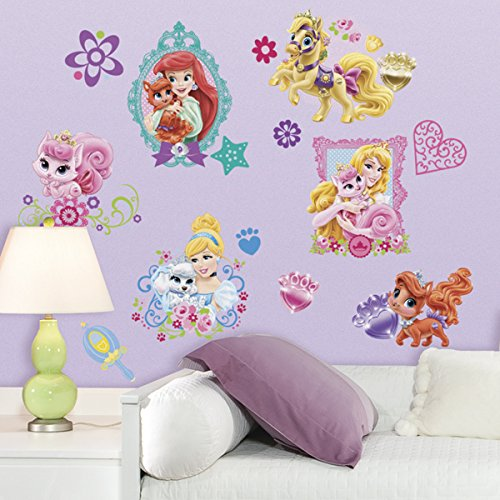 RoomMates Disney Prinzessinnen Palast-Haustiere Wandtattoo
