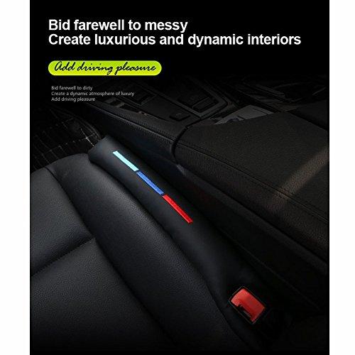 Kunstleder Autositz-Lückenfüller, Abstandshalter, Universal Sitzlückenfüller Stopfen für PKW, SUV, LKW