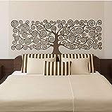 Pegatina de pared XKIOA, calcomanía de vinilo inspirada en el arte de pared grande para la decoración de la sala de estar, decoración de murales de cabecera de cama, 149 57Cm