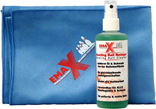 EMAX Bowling- Ball und Kugel Reiniger + Mikrofaser Handtuch