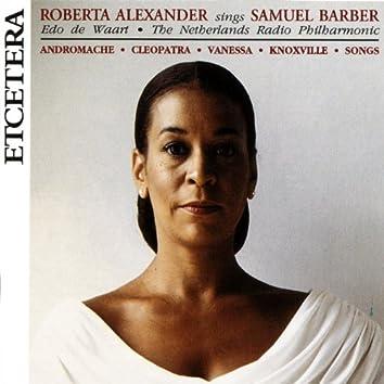 Roberta Alexander sings Samuel Barber, with The Netherlands Radio Philharmonic