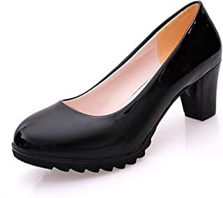 パンプス レデース 太ヒール 走れるパンプス 歩きやすい かかと脱げ防止 ラウンドトゥ フォーマル OL 結婚式 痛くない オシャレ コンフォート ホワイト ブラック 黒