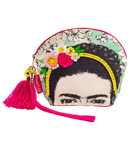 House Of Disaster Frida Kahlo Beaded Make Up Bag With Tassel from