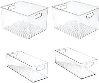 Réfrigérateur alimentaire Organisateur Gel Boîte de rangement Tiroir de cuisine en plastique Tirez-en récipient transparen...
