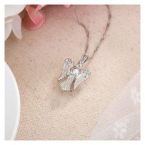 Collar delicado para mujer Collar para mujeres, cadena de clavícula de perla luminosa de ángel, moda colgante de collar simple para joyería de niñas, regalos para el aniversario de cumpleaños Día de S