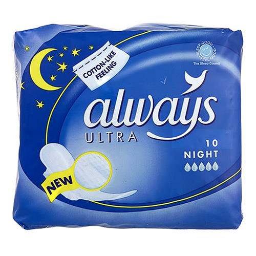 Always Ultra Serviettes hygiéniques Nuit X 10