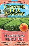 Charleston Tea Plantation Pyramid Teabags, Plantation Peach, 12 Count, 1.05 Ounce (04358)