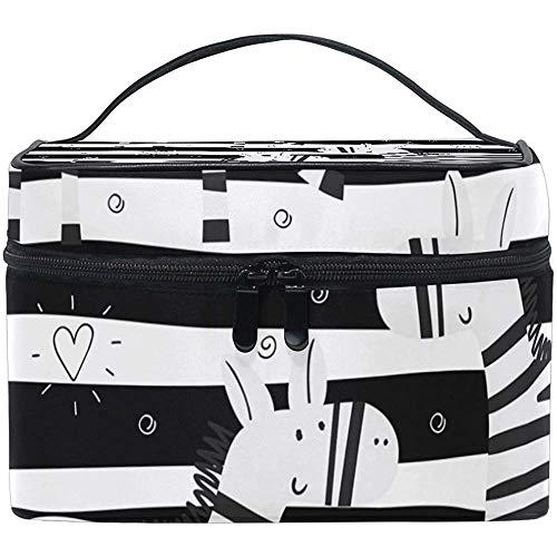 Reistas met ritssluiting zebra in wit en zwart gestreept multifunctionele tas