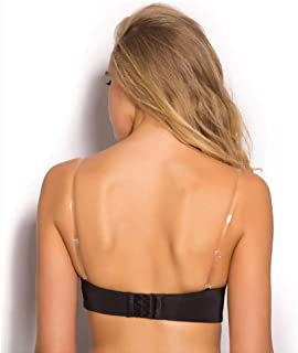 a7c3063c87 Invisible Clear Bra Strap Non-Slip Adjustable Bra Strap Soft 2 Pair  Transparent Shoulder Strap