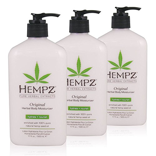 Hempz Original Herbal Body Moisturizer, 17 oz, Pack of 3
