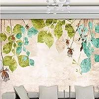 3D壁紙ポスター手描きの葉カスタム大規模な壁紙の壁紙3Dテレビの背景リビングルームの写真の壁紙3Dルームの壁紙-280X200cm(110 x 78インチ)