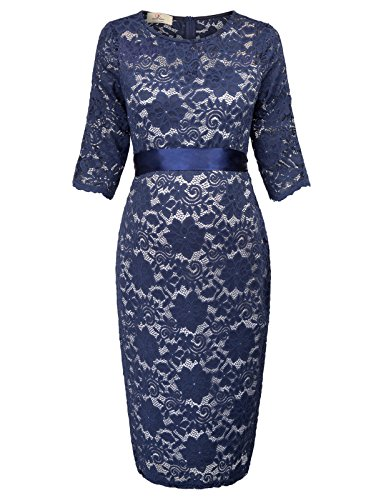 GRACE KARIN elegant Damen Bleistift Kleid Frauen lace Ball Cocktail Kleid M AF1026-3