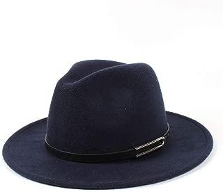 LiJuan Shen Men Women Authentic Wool Fedora Hat Dance Party Hat Casual Wild Hat Panama Hat Size 56-58CM