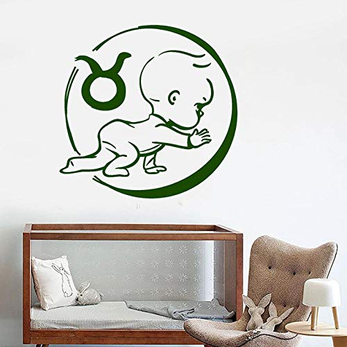 Muurstickers Mooie baby muurtattoo sterrenbeeld kalf horoscoop kinderen baby kamer kinderen slaapkamer wooncultuur vinyl raam sticker muurschildering