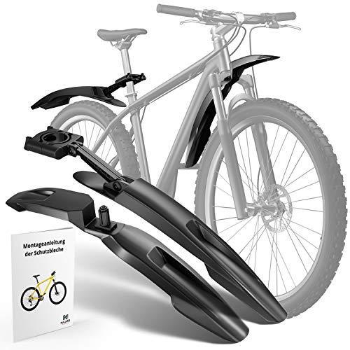 NAJATO Schutzbleche Mountainbike – Robustes Fahrrad Schutzblech für 24-29 Zoll Räder – MTB Schutzblech zum Schutz vor Dreck & Spritzwasser – Mit Deutscher Montageanleitung