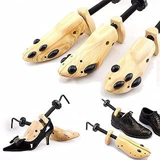 One Pair Shoe Stretcher Expander Shaper Adjustable Size 6-13 Wooden, Unisex Women Men