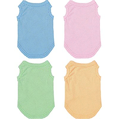 4 Pieces Dog Shirts Summer Cooling Dog T-Shirts Short Sleeve Soft and Breathable Puppy Clothes Blank Puppy T-Shirt for Small Medium Dogs