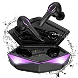 Cuffie Bluetooth Gaming senza fili in-ear, Kingstar Bluetooth 5 Earbuds microfono Low Latency Ipx5 Auto Pairing Touch Attivazione senza fili Gaming Cuffie per PC Mobile Phone (2)