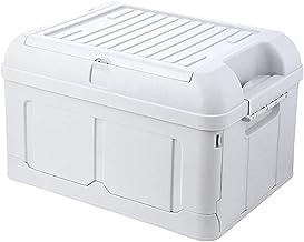 HUIXINLIANG Bacs de stockage pliables avec couvercle - Caisses d'utilité pliante en plastique durable, bac de stockage pla...