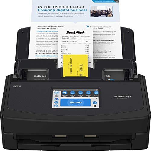 Fujitsu ScanSnap iX1600 Versatile Cloud Enabled Document Scanner for Mac or PC, Black (Renewed)