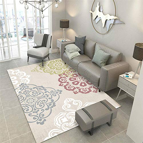 TANGYUAN Diamond Patroon in Soft Touch groot tapijt - Corridor klassieke etnische stijl tapijt klassieke printen patroon ademend gemakkelijk schoonmaken patroon
