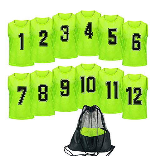 Antoyo Basketball Jersey,Pinnies Adult,Scrimmage Vests for Kids Soccer Training Equipment Green-L