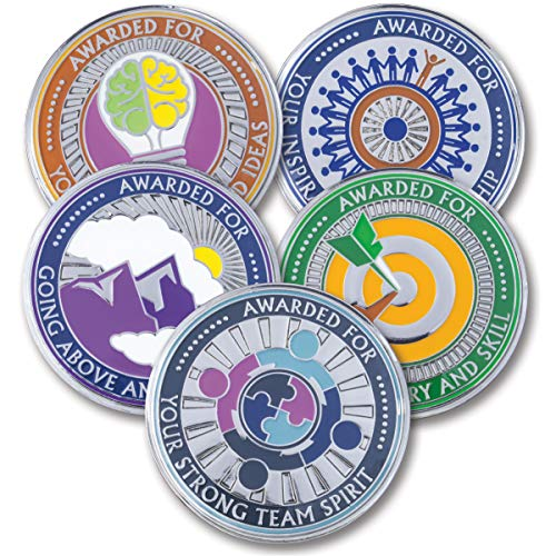 AttaCoin - 5 Coins - Employee, Coworker, Office Staff Appreciation Gifts - Motivation and Recognition Award (5 Pack, Variety Pack)