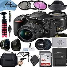 Nikon D5600 DSLR Camera 24.2MP Sensor with NIKKOR 18-55mm f/3.5-5.6G VR Lens, SanDisk 32GB Memory Card, Bag, Tripod, 3 Pack Filters and A-Cell Accessory Bundle (Black)