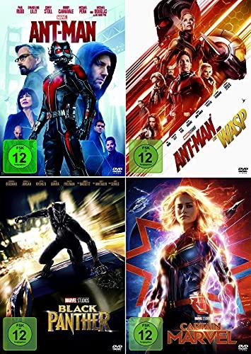 Marvel Studios Bundle - Black Panther + Ant-Man + Ant-Man and the Wasp + Captain Marvel [4er DVD-Set]